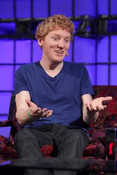 EARNING HIS STRIPES: Patrick Collison