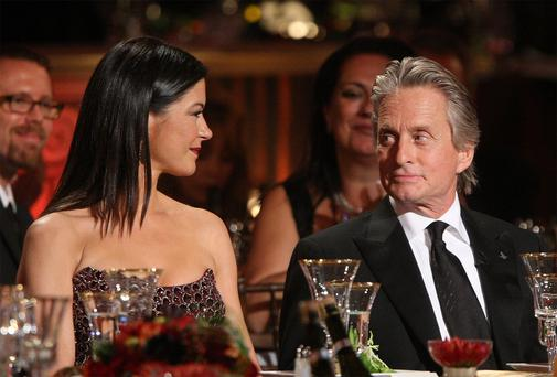 Actors Catherine Zeta- Jones and Michael Douglas