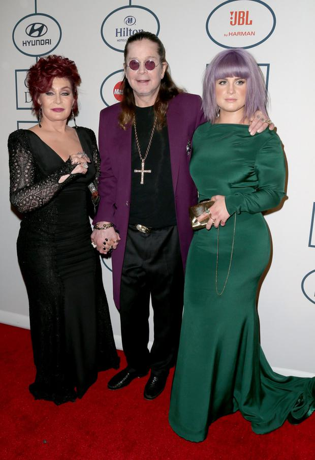 TV Personalities Sharon Osbourne, Kelly Osbourne and musician Ozzy Osbourne