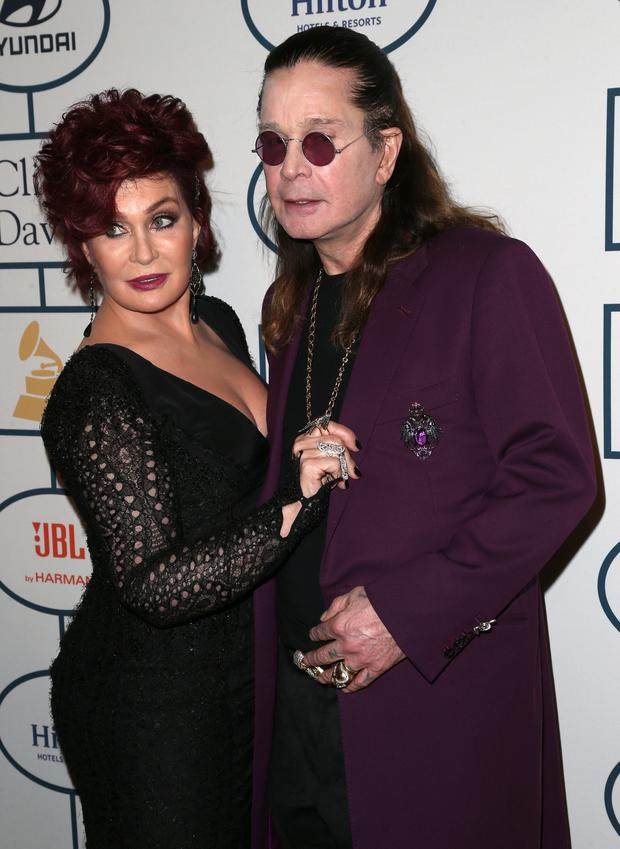 Sharon Osbourne and musician Ozzy Osbourne attend the 56th annual GRAMMY Awards Pre-GRAMMY Gala and Salute to Industry Icons honoring Lucian Grainge at The Beverly Hilton on January 25, 2014 in Beverly Hills, California.
