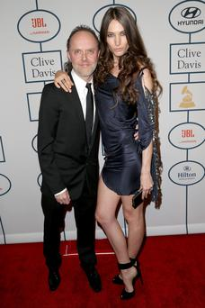 Musician Lars Ulrich of Metallica (L) and model Jessica Miller