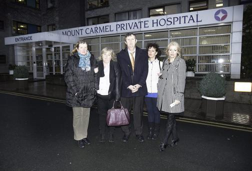 Mount Carmel staff & INMO reps (L to R) Marian Hendrick, Eileen Finn, Philip McAnenly, Eleanor Byrne and Patricia Kelly Maloney