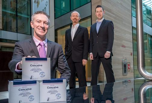 Declan Keane, Director at ReproMed Ireland, along with Pillar Healthcare's Matt Ronan and Mark Whitney.