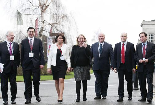 Peter Matthews,Terence Flanagan, Fidelma Healy Eames, Lucinda Creighton, Billy Timmins,Denis Naughten and Paul Bradford at the Reform Conference.
