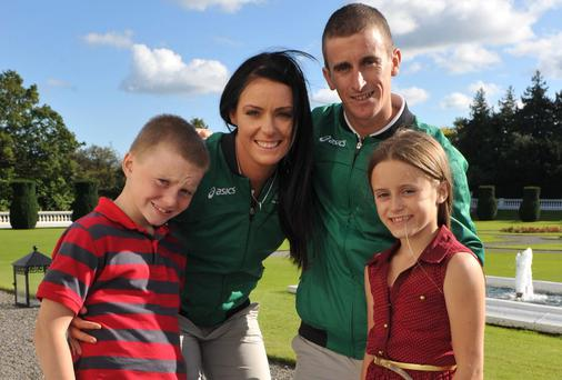 Rob and Marian Heffernan with their kids, Cathal, 7, and Megan, 9.