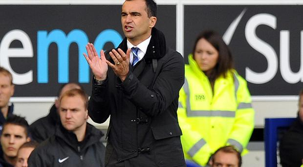 Everton's Spanish manager Roberto Martinez PAUL ELLIS/AFP/Getty Images