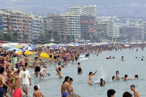 A shot of the crowded beach on the Costa Del Sol in Spain. Nigel Goldman has gone missing from the area.