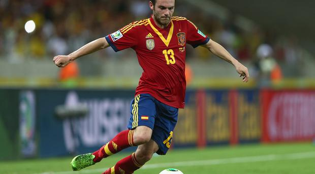 Juan Mata of Spain in action during the FIFA Confederations Cup Brazil 2013 Semi Final match between Spain and Italy at Castelao on June 27, 2013 in Fortaleza, Brazil