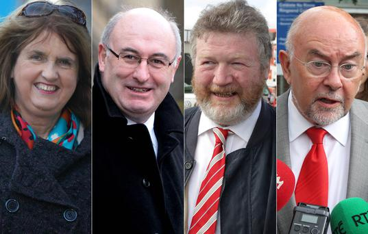 Joan Burton, Phil Hogan, James Reilly and Ruairi Quinn