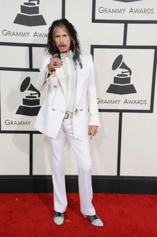 Recording artist Steven Tyler attends the 56th GRAMMY Awards at Staples Center on January 26, 2014 in Los Angeles, California. (Photo by Steve Granitz/WireImage)