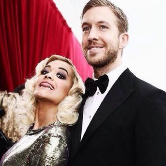 Rita Ora and Calvin Harris slam any split rumours with a selfie (Instagram/Rita Ora)