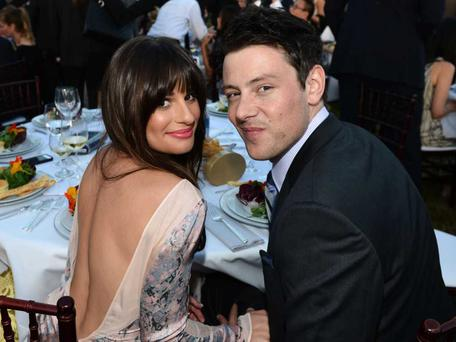 Lea Michele and Cory Monteith in 2012