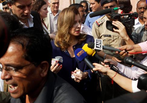 Trierweiler visits India after Hollande split