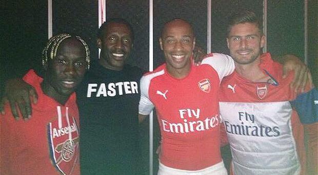 Thierry Henry was pictured recently in an Arsenal puma shirt. Is it the one the Gunners will wear next season