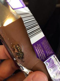 A man said he found a wasp in his chocolate bar. Photo: Jake Keating/Twitter