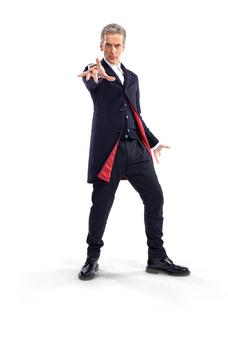 Photo of new Dr Who star Peter Capaldi, in the first picture released showing his costume. Photo: Steve Brown/BBC/PA Wire