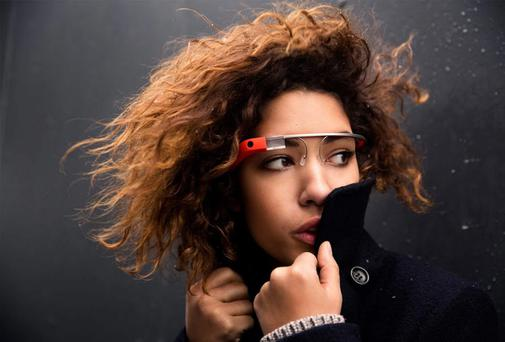 Google has bought DeepMind Technologies Ltd. Model wears Google Glass