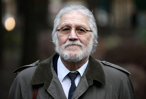 Radio presenter Dave Lee Travis arrives at Southwark Crown Court on January 27, 2014 in Southwark, England