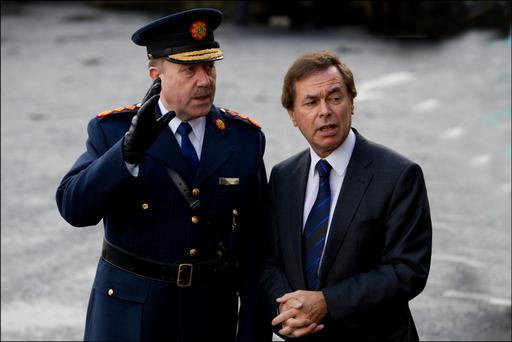 Minister for Justice Alan Shatter and Garda Commissioner Martin Callinan. Picture: David Conachy