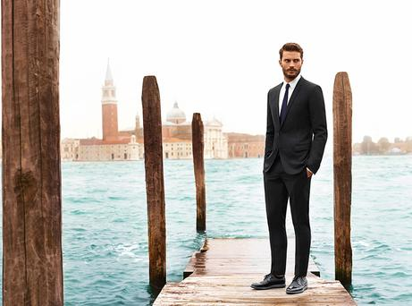 Jamie Dornan in the new Hogan campaign. Picture: Hogan.com