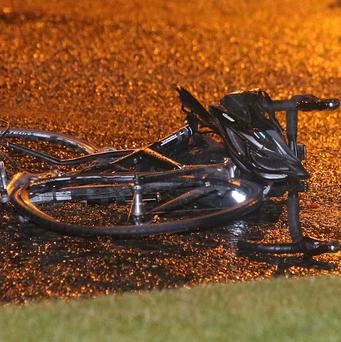 A bicycle which was involved in a road traffic accident at Citywest. Photo Damien Eagers / Evening Herald