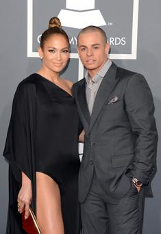 Singer Jennifer Lopez and dancer Casper Smart