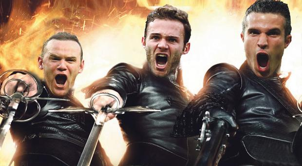Wayne Rooney, Juan Mata and Robin van Persie could form a fearsome trio