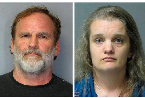 Dr. Melvin Morse, 58, and his estranged wife Pauline Morse are seen in this combination of booking photos released by the Delaware State Police August 9, 2012