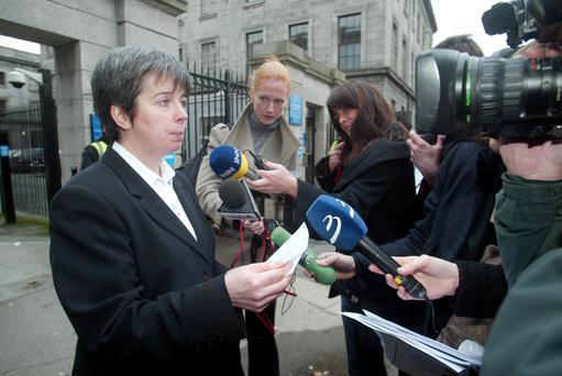 Louise O'Keeffe at a Supreme Court hearing in 2009.