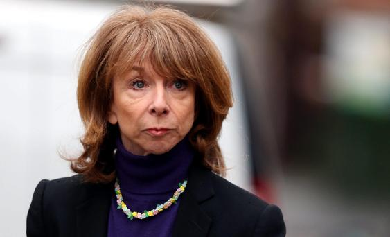Coronation Street actress Helen Worth arrives at Preston Crown Court where she is expected to be called to the witness box at the trial of fellow star William Roache