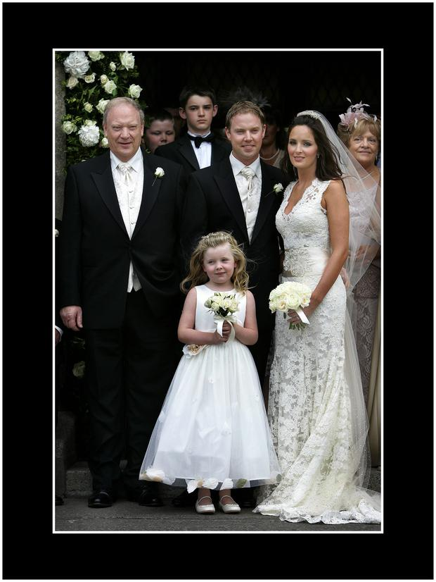Jim Mansfield at the wedding of his son P.J Mansfield and Andrea Roche in Saggart in August 2006. Pic: Steve Humphries