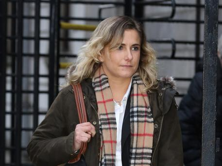 29/1/2014 Victoria Clayton, of Clonagh Lane, Portadown, Co. Antrim, pictured leaving court yesterday(Wed) after the opening day of her High Court action for damages against music promoters, MCD for injuries she sustained when she attended the 2007 Rolling Stones Concert at Slane, Co. Meath.Pic: Collins