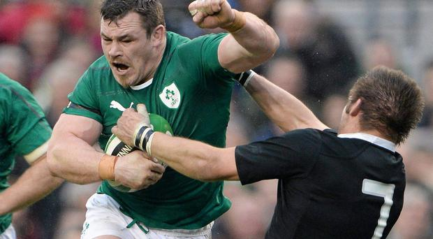 Intense: Cian Healy's performance against the All Blacks.