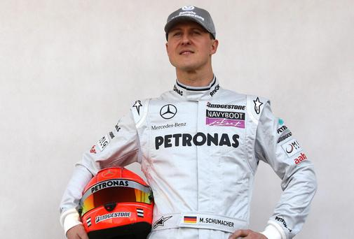 Formula One legend Michael Schumacher (45), suffered a near-fatal head injury in a skiing accident in Meribel, France, on December 29 last year. PA