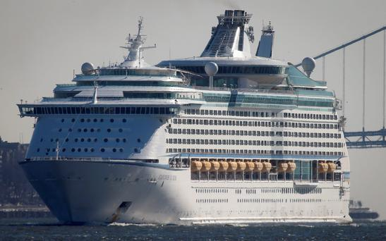 The Royal Caribbean's cruise ship Explorer of the Seas arrives back at Bayonne, New Jersey