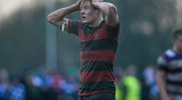 A dejected Sam Pin, Kilkenny College, at the end of the game