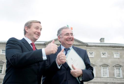 Pat Rabbitte and Enda Kenny