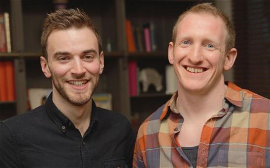 Moving reunion: Jonny Benjamin, left, with Neil Laybourn, who persuaded him not to commit suicide