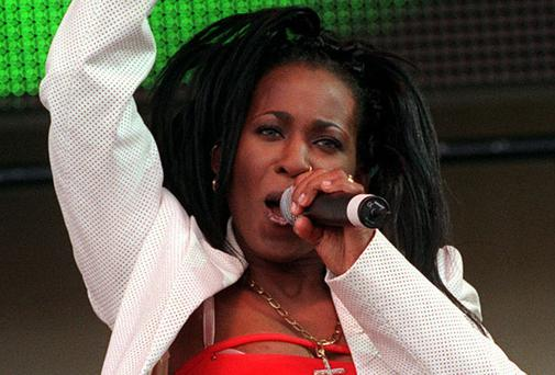 Easther Bennett from the pop group, Eternal, pictured in 2000
