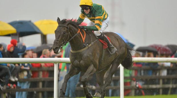 Mark Walsh riding Bob Lingo on their way to winning the Galway Plate