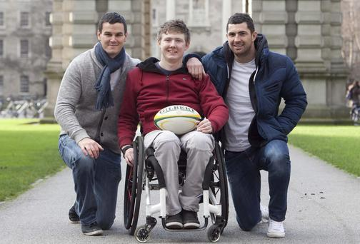 Jack with Johnny Sexton and Rob Kearney.