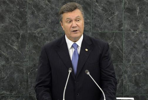 President Viktor Yanukovych: has a 'high temperature'. Getty Images