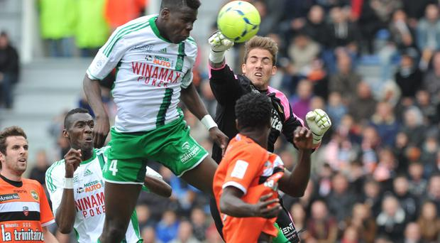 French defender Kurt Zouma - seen here in action for Saint-Etienne - is reportedly a target for Jose Mourinho and Chelsea