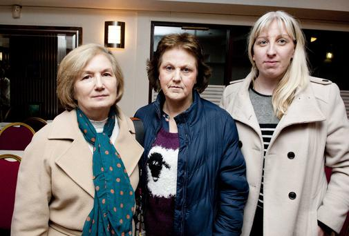 Pictured are (LtoR) nurses Maureen O'Connor and Rita Healy and Lisanne Brady