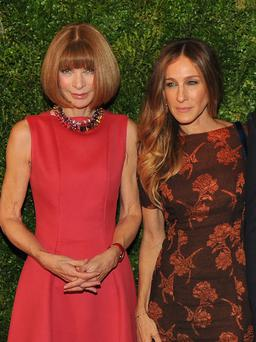 NEW YORK, NY - DECEMBER 04: Anna Wintour, left, and Sarah Jessica Parker attend HBO's In Vogue: The Editor's Eye screening at Metropolitan Museum of Art on December 4, 2012 in New York City. (Photo by Theo Wargo/Getty Images for HBO)