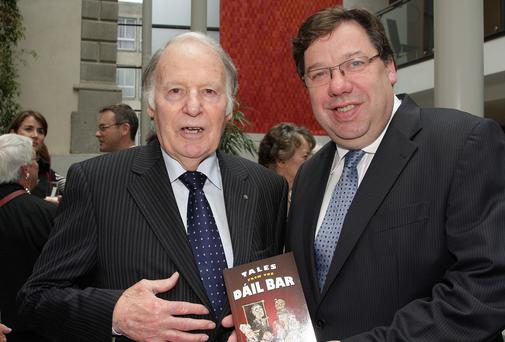 Ted Nealon pictured with Taoiseach Brian Cowen at the official launch of his book