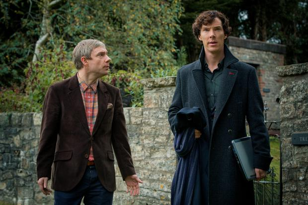 Back from the dead: Benedict Cumberbatch as Sherlock Holmes