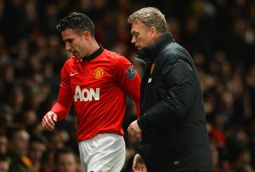 Manchester United Manager David Moyes and Robin van Persie