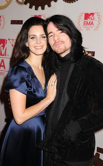 Singer Lana Del Rey (L) and musician Barrie-James O'Neill