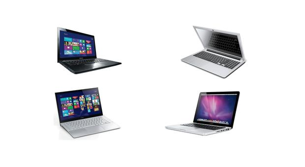 ON THE MARKET: CLockwise from top left, Lenovo G500, Acer Aspire V5, Apple MacBook Pro and the Sony Vaoi Pro 11